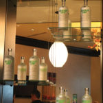 Absolut Lime decorated the back bar at the High Rollers Club in Twin River Casino
