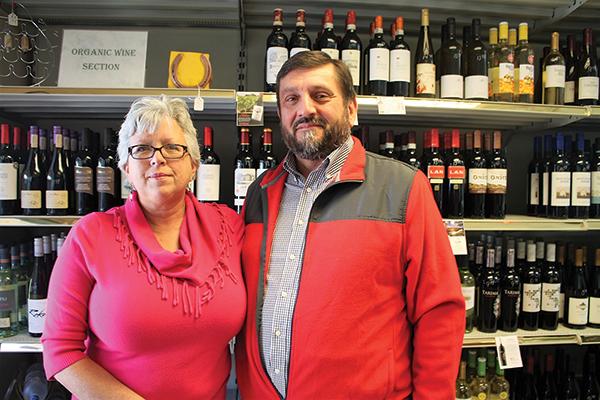 Sherman Wine & Liquor's Donna and Mike Aleksandrowicz.
