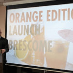 Mike Heins, Trade Development Manager, Brescome Barton, introducing Red Bull Orange.