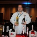 David Tretola of Boston Promotions showcasing Martini & Rossi and St. Germain.