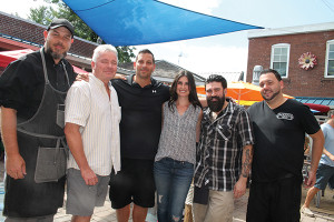 Bruce Riley, Chef, Mezzo's Grille and Bar; Bill Fox, Owner, Mezzo's Grille and Bar; Joseph Aceto, Bar Manager, Mezzo's Grille and Bar; Shel Bourdon, Plymouth Gin and Beefeater East Coast Brand Ambassador; Dimitrios Zahariadis, USBG CT Chapter President; Brandon Bullock, Employee, Mezzo's Grille and Bar.