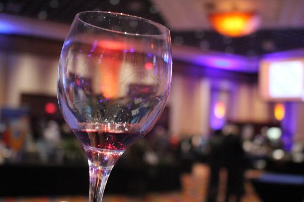 A wine pour.
