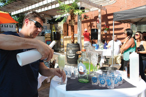 "Mark DeBlois mixing ""Friars Southside Fizz."" DeBlois' cocktail was awarded the crowd favorite."