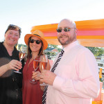 Gina Funaro, Katie Schoen and Brendan M. Welsh, Sales Representatives, Slocum & Sons with Veuve Clicquot Rosé