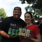 Pat Morin, Event Representative, Back East Brewing with Michele Morin, Brand Ambassador, Back East Brewing.