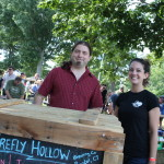 Rich Loomis, partner, Firefly Brewing Co with Jessica Ruebin, representative, Firefly Brewing Co.