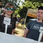Elyse Noccilo with Zack Gregory, Representatives, Duvig Brewing Co.