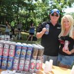 "Sean McQuade, Connecticut Regional Sales Manager, Narragansett Brewing Company with ""Narragansett Girl"" Tonya Plefka."