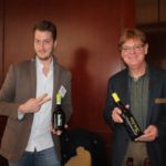 Luca D'Andrea, Sales and Export Manager, Corvezzo Winery in Italy and Rene Eichman, Vice President and Winemaker at Bridgeview Vineyard and Winery in Oregon.