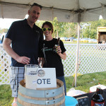 East Hartford's Olde Burnside Brewing Company's Case McClellan, Owner, with Meredith Blake, Director of Sales and Marketing.