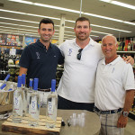 Max Moss, Territory Manager in Massachusetts and Connecticut, KEEL Vodka; Matt Light; and Tom McGowan, Co-Founder, KEEL Vodka.