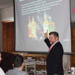 Dan Kleinman, Vice President of Marketing Rum, Diageo presenting Captain Morgan Cannon Blast to the Hartley and Parker sales team.
