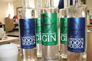 Waypoint Spirits Labrador Noon Vodka and Wintonbury Gin. The spirits were presented to Brescome Barton sales staff.
