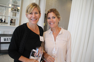 Elisa Wybraniec, Wine Director, Coast Guard House with Nicole Gammino, Employee, Coast Guard House.