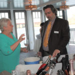 Andrea Penardo, Owner, Main Street Wine and Spirits and Marc Guillotte of MS Walker discussing the sparkling selection of rosé.