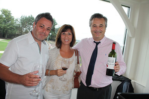 Tony and Melanie Lanni, Owners of IL Fornello Restaurant, with Jean-Christophe Calvet, President, Aquitaine Wine Company.
