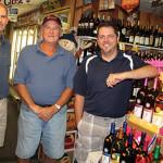 Steven, Denis and Jason Deschamps of Champs Discount Liquors.