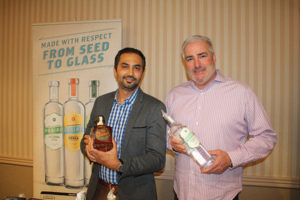 Sunny Rajvansh, Sales Representative, Slocum & Sons and Sean O'Donnell, New York Region Manager, Phillips Distilling Co.