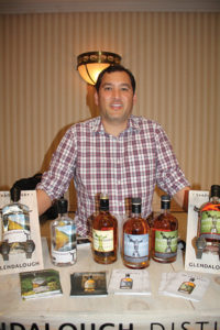 Kevin Fethe, Director of Sales, Mark Anthony Crafted Spirits, with Glendalough Irish Whiskey.