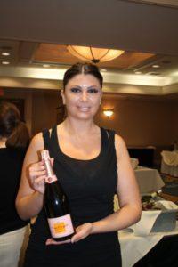 Andrea Hanarhan from the Strategic Group representing Veuve Clicquot.