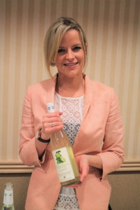 Jillian Boone, Sales Manager, A. Hardy U.S.A with Thatcher's Vodka.