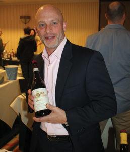 Wally Crumb, CFO, Slocum & Sons with a Vietti Barolo wine.
