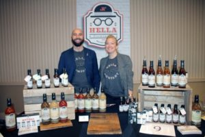 Tobin Ludwig, Co-founder, Hella Cocktail Company and Alicia Hollinger, Field Market Manager, Hella Cocktail Company.