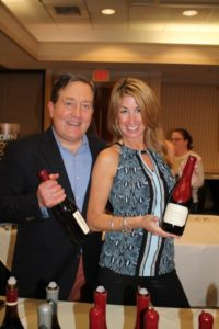 Tim Locke, Northeast Manager, Copper Cane Wines and Kim Melo, Paradise Promotions.