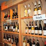 Inside Surrey Wine Shop.