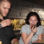 Daniel Rek, Bar Manager, Elm City Social with Megan Lambert, during the tasting of Hennessy.