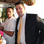 Michael Kolesar, Bar Manager, L'escale with Frank Sansotta, Jr., Connecticut State Manager, Kobrand Fine Wine and Spirits.