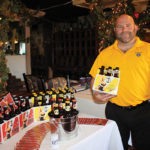Jeff Morin, Sales Manager, Cottrell Brewing Company with Safe Harbor Lager and IPA.