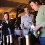 Chris and Melissa Jean, Owners, Casa Bacchus speaking with Paul Cullen, CT State Manager, Angelini Wine.