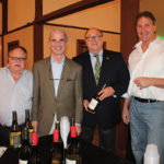 Larry Miner, Guest; Joe Howard, Owner, Apricots Restaurant; Lou Grimaldi, Sales Representative, Hartley & Parker; Mark Mirligni, Guest, featuring wines from Hartley & Parker Ltd.