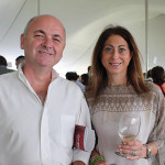 Dave Morton with Rachel Halperin of Luxe in Westport.