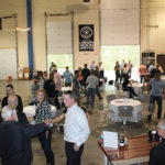 The CRA Spring Potluck event was held at the Waypoint Spirit distillery in Bloomfield.
