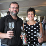 Zak Ginzburg of Cost Less in Stamford and Susan McQuade, Brand Manager, Winebow.