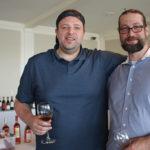 Spencer Hess, Owner, La Vie du Vin Wine Market in Norwalk and Matt Habdas, Sales, Winebow.