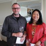 Steve Garett and Eliane Chao, Owner, The Little Kitchen of Westport.