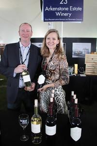 Jake Krausz, C.S., with Adrienne Stillman of Arkenstone Vineyards in Napa Valley.