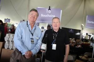 Gerret Copeland, Chairman, with Greg Gauthier of Bouchaine Vineyards.