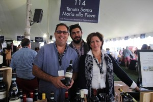 Gary, David and Carolina Grunner representing Tenuta Santa Maria.