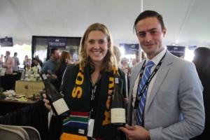 Victoria and Marthinus Van Der Vyver of Ken Forrester Vineyards of South Africa.