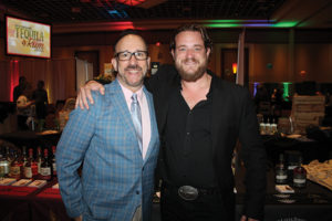 "Frank Martucci, General Manager of Beverage Operations, Twin River Casino and Russell Davis of Spike TV's ""Bar Rescue,"" who served as the event emcee for the third annual New England Tequila & Rum Festival."