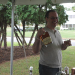 Anthony DeSerio, USBG CT, mixing cocktails for guests with Whistlepig Rye Whiskey as the main ingredient.