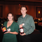 Molly Peabody, Sales and Tasting Representative, M.S. Walker with Andy Valeri, Sales and Tasting Representative, M.S. Walker.