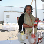 Marissa Ocasio, Market Manager, Le Grand Courtage France with Rosé Brut.
