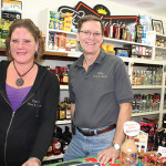Store employee Camille Cunningham and Owner Ben Phillips.