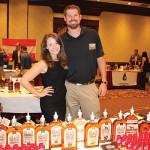 Both of Bird Dog Whiskey: Jen Poissant, Brand Ambassador with Sean Nelson, Western Spirits State Manager.