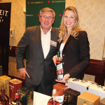 Rich Raboin, Trade Development Specialist, Providence Beverage with Kathleen Danahey, Diageo USA.